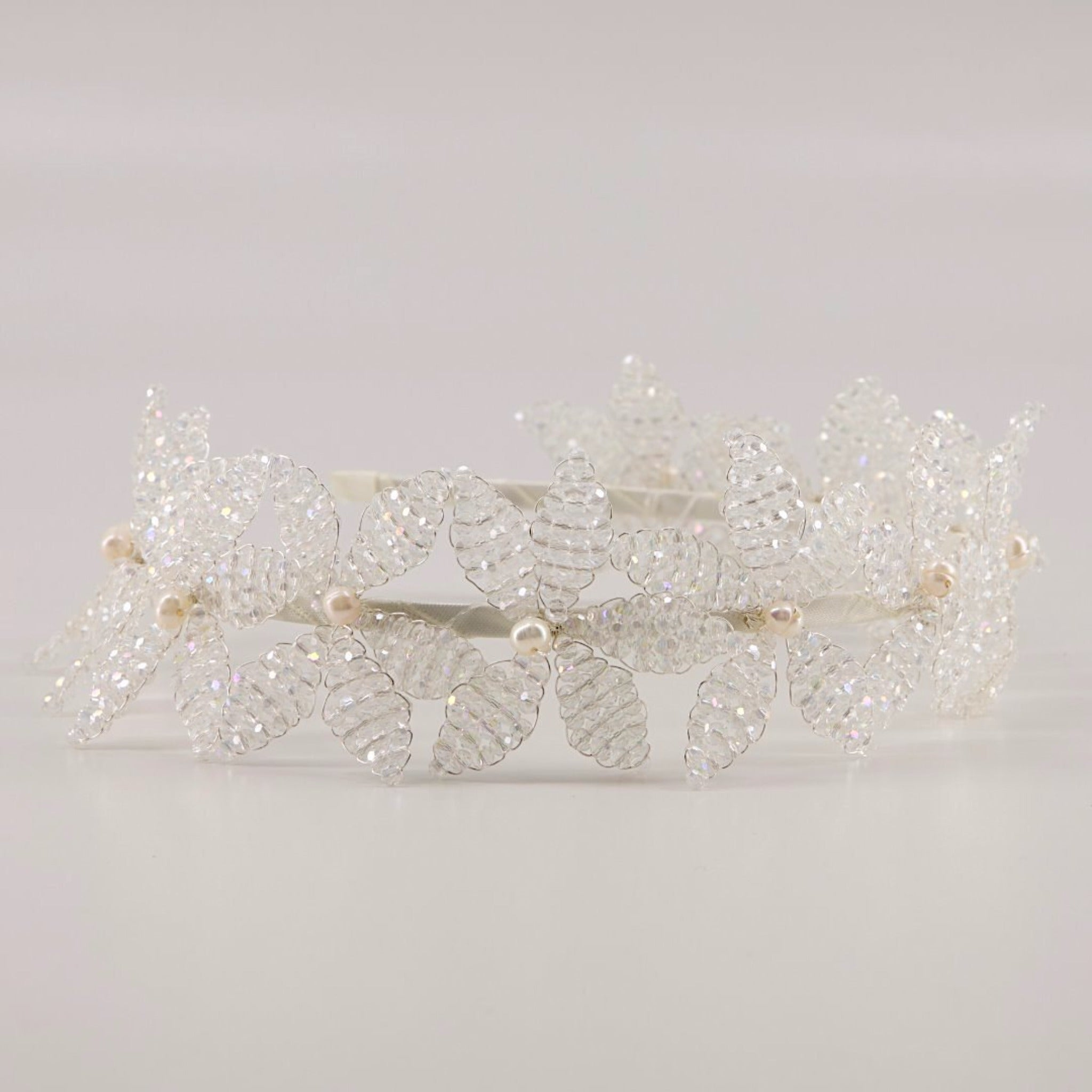 The Parisa Crystal Flower Headband Headband Sienna Likes To Party - Shop