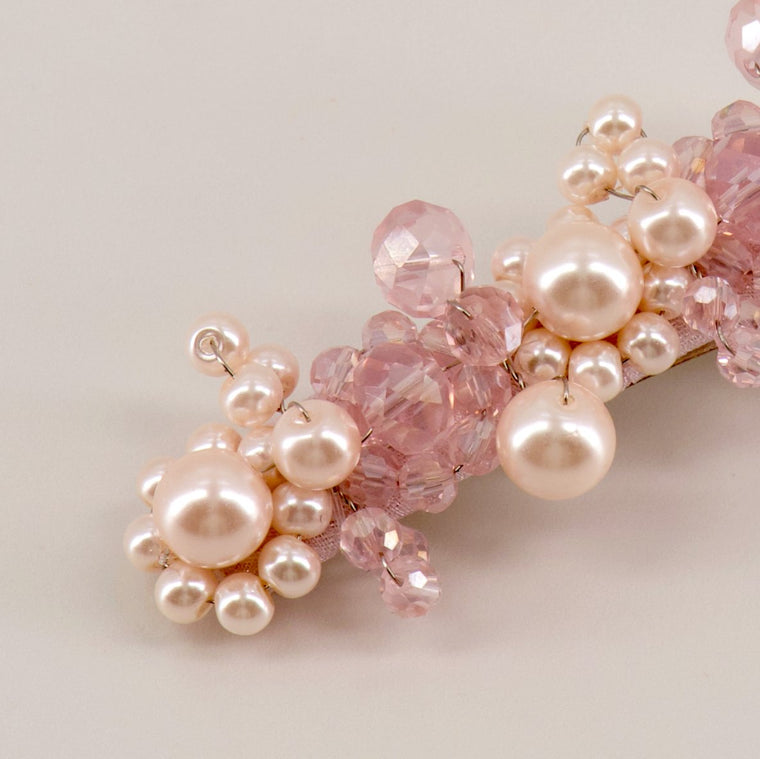 The Pink Only In Name Crystal & Pearl Designer Girl Hair Clip Hair Clip Sienna Likes To Party