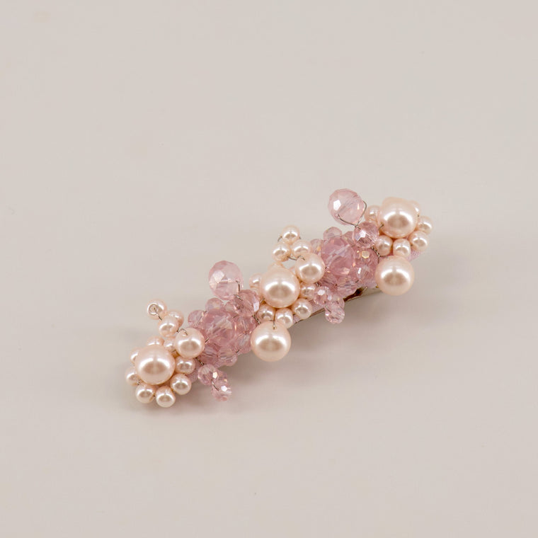 The Pink Only In Name Crystal & Pearl Designer Hair Clip