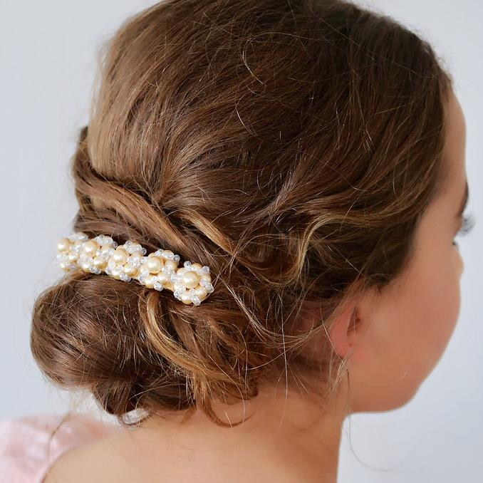 The Piper Crystal and Pearl Designer Hair Clip