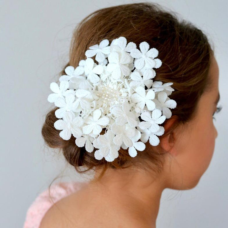 The Precious Posy Pearl and Crystal Hair Clip