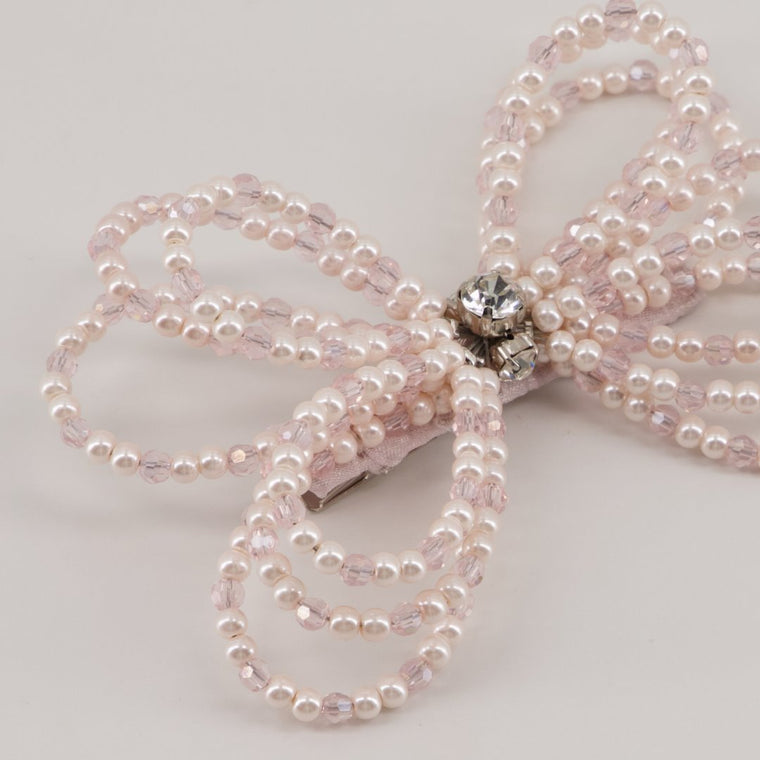 The Selene Pearl Bow Hair Clip Hair Clip Sienna Likes To Party