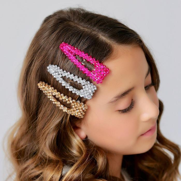 The Star Galaxy Crystal Designer Girls Barrette Hair Clip Sienna Likes To Party