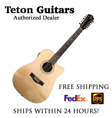 **TETON STS100CENT-12 ACOUSTIC ELECTRIC 12 STRING - FREE SHIPPING****