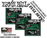 ** 3-PACK ERNIE BALL COBALT NOT EVEN SLINKY ELECTRIC GUITAR STRINGS 12-56 **