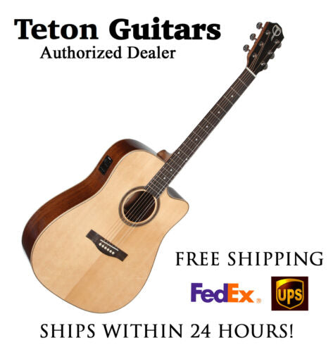 **TETON STS100CENT ACOUSTIC ELECTRIC DREADNOUGHT GUITAR - FREE SHIPPING**