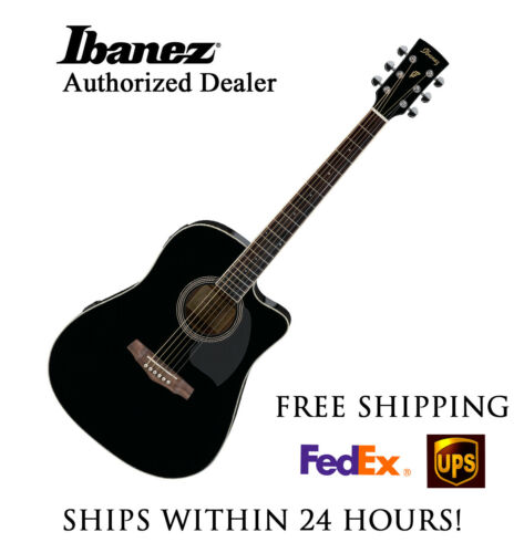 **IBANEZ PC15ECE ACOUSTIC BLACK - FREE SHIPPING**