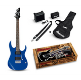 **IBANEZ ELECTRIC JUMPSTART PACK IN ORANGE & BLUE, SET-UP & FREE SHIPPING**