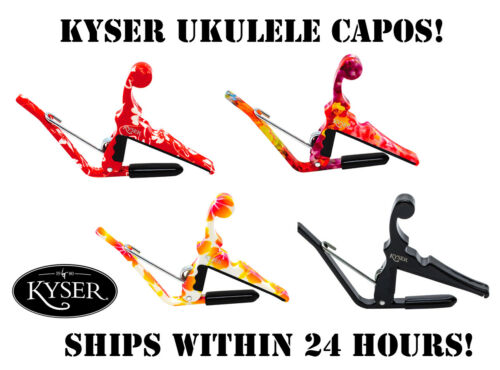 **KYSER QUICK CHANGE UKULELE CAPO - 4 COLOR CHOICES!!**