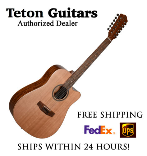 **TETON STS105CENT-12 ACOUSTIC ELECTRIC 12 STRING - FREE SHIPPING****