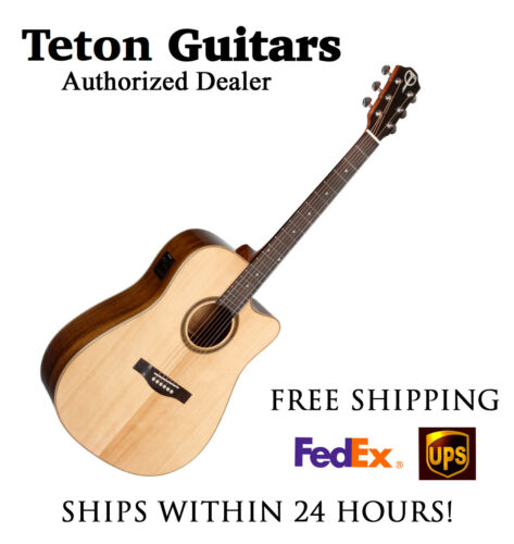 **TETON STS110CENT SPRUCE/OVANGKOL DREADNOUGHT W/ ELECTRONICS NATURAL**