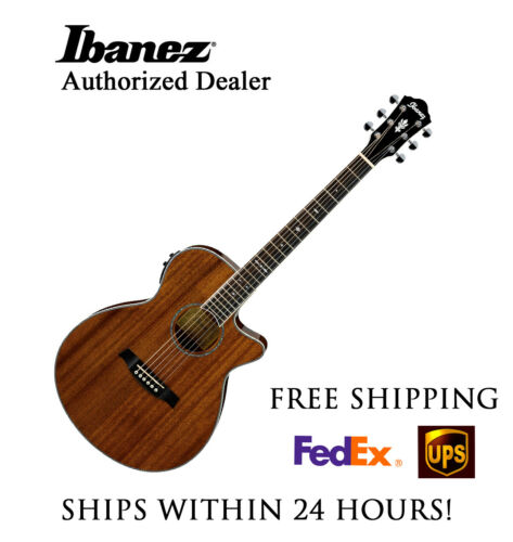 **IBANEZ AEG12IINT ACOUSTIC ELECTRIC GUITAR NATURAL - FREE SHIPPING**