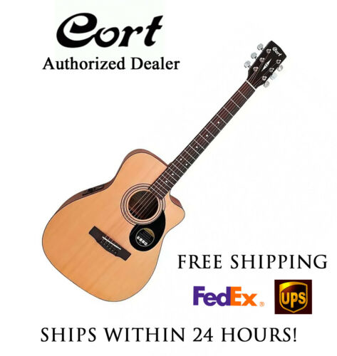 **CORT AF515CE ACOUSTIC ELECTRIC GUITAR NATURAL - FREE SHIPPING**