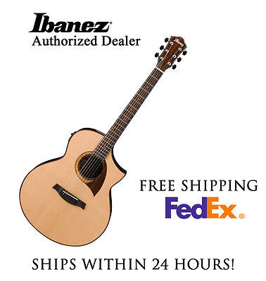 **IBANEZ AEW22CD ACOUSTIC GUITAR, INCLUDES FULL SET-UP AND FREE SHIPPING**