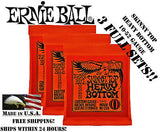 ** 3 SETS! ERNIE BALL SKINNY TOP HEAVY BOTTOM ELECTRIC GUITAR STRINGS 2215 **