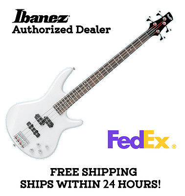 **IBANEZ GSR200 BASS GUITAR - WHITE, FULL SET-UP AND FREE SHIPPING**