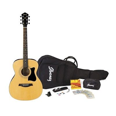 IBANEZ IJV50 CONCERT JAMPACK! INCLUDES GUITAR, CASE, STRAP, PICKS, AND TUNER