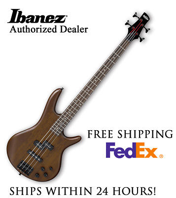 **IBANEZ GSR200 BASS GUITAR - WALNUT BROWN, FULL PRO SET-UP AND FREE SHIPPING**