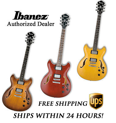 **IBANEZ AS73 HOLLOW BODY ELECTRIC GUITAR, WITH FULL SET-UP AND FREE SHIPPING**
