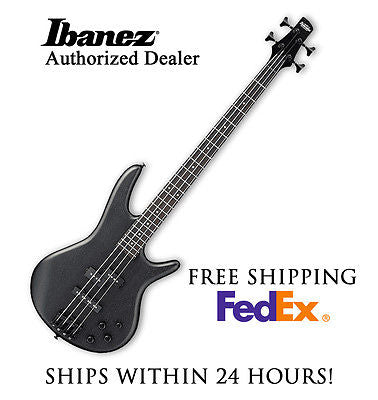 *IBANEZ GSR200BWK ELECTRIC BASS GUITAR -FLAT BLACK, SET-UP AND FREE SHIPPING*