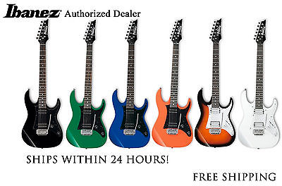 Ibanez Grx20z Electric Guitar In Black Blue White Sunburst Orange Or