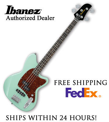 **IBANEZ TMB100 BASS GUITAR - SEAFOAM GREEN, FULL SET-UP AND FREE SHIPPING**
