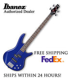 **IBANEZ GSR200 BASS GUITAR - JEWEL BLUE, FULL PRO SET-UP AND FREE SHIPPING**