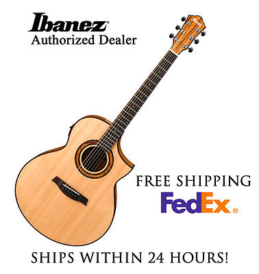 **IBANEZ AEW23ZW ACOUSTIC GUITAR, INCLUDES FULL SET-UP AND FREE SHIPPING**