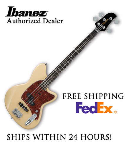 **IBANEZ TMB100 BASS GUITAR - IVORY FINISH, FULL PRO SET-UP AND FREE SHIPPING**