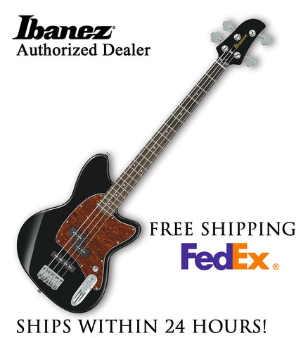 **IBANEZ TMB100 BASS GUITAR - BLACK, FULL PRO SET-UP AND FREE SHIPPING**