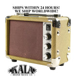 **KALA 5 WATT TWEED UKULELE AMPLIFIER - AMP FOR UKE & UBASS - AMP-TWD-5U**