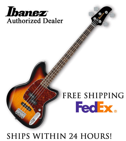 **IBANEZ TMB100 BASS GUITAR -TRI FADE BURST, FULL PRO SET-UP AND FREE SHIPPING**