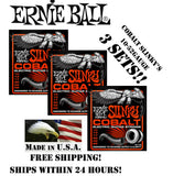 *3-PACK ERNIE BALL COBALT SKINNY TOP HEAVY BOTTOM ELECTRIC GUITAR STRINGS 10-52*