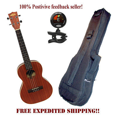 **KALA KA-T MAHOGANY TENOR UKULELE WITH HEAVY DUTY PADDED BAG & SNARK TUNER**