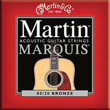 ** 3 SETS - MARTIN MARQUIS M1100 ACOUSTIC GUITAR STRINGS LIGHT 80/20 BRONZE**