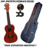 **KALA KA-C MAHOGANY CONCERT UKULELE WITH HEAVY DUTY PADDED BAG & SNARK TUNER**