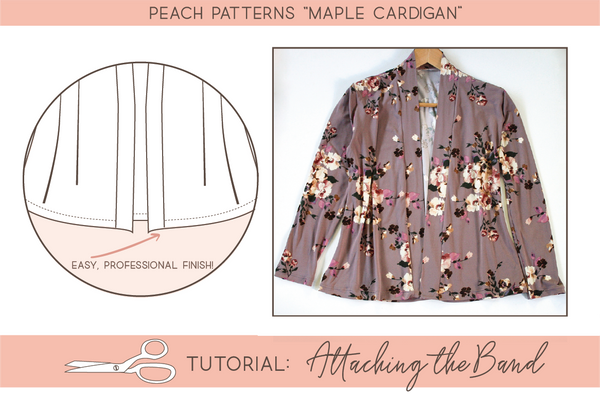 Tutorial: Attaching the Front Band on the Peach Patterns