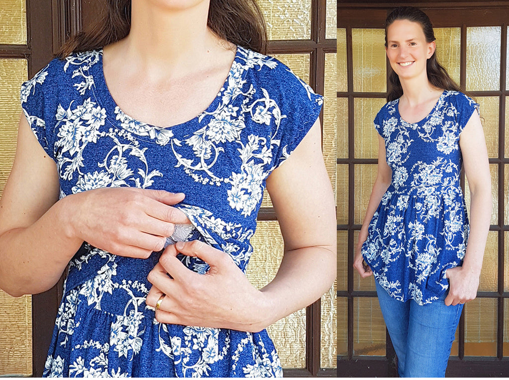 5b2d72368a3b4 Tutorial: How to Adapt Your Pearlie Dress & Peplum Top for Nursing/  Breastfeeding