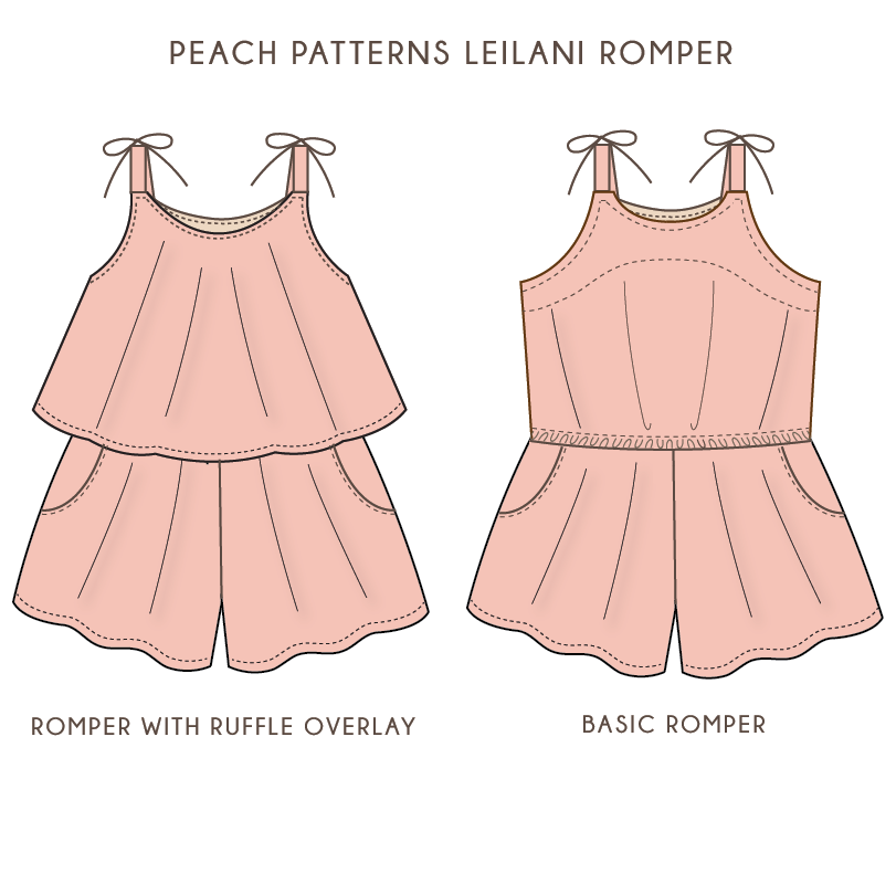 Leilani Romper Playsuit for Girls PDF Sewing Pattern: Sizes 12 ...