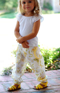 Happy Pants Harem & Cargo Style Pants PDF Sewing Pattern for Girls & Boys : Sizes 1-12