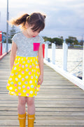 Pearlie Dress Everyday Tee Shirt Dress & Peplum Top for Girls PDF Sewing Pattern : Sizes 1 to 12