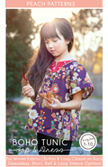 Boho Tunic Top & Dress PDF Sewing Pattern for Children : Sizes 1-10