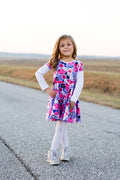 Pearlie Dress & Peplum Top PDF Pattern for Girls Full Circle Skirt, Waistband & Long Sleeve ADD-ONS