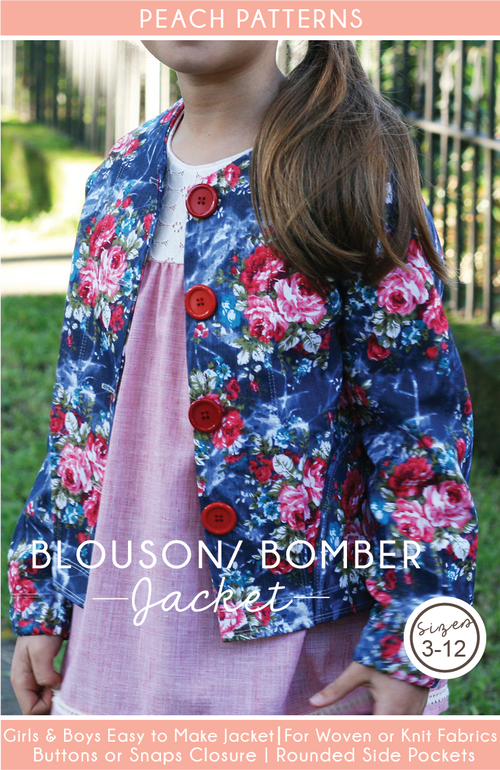 Blouson Bomber Jacket for Children PDF Sewing Pattern : Sizes 3-12