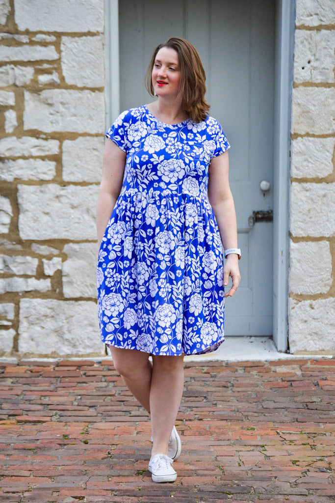 Pearlie Dress Everyday Tee Shirt Dress & Peplum Top for Women PDF Sewing Pattern