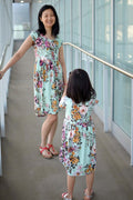 TWO PATTERN BUNDLE: Pearlie Dress & Peplum Top PDF Sewing Pattern for Women AND Girls