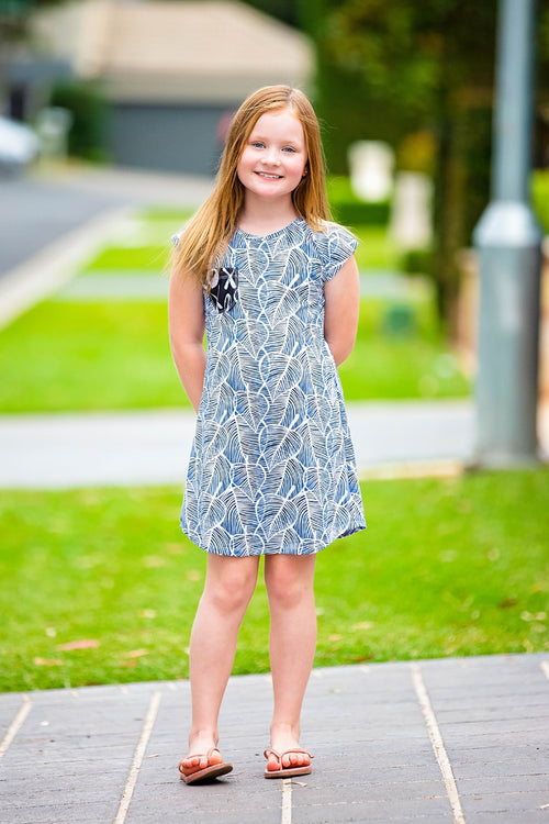 Pearlie A-Line Tee Shirt Knit Dress for Girls PDF Sewing Pattern