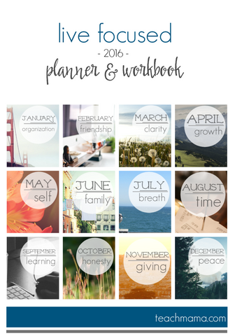 eBook || 2016 Live Focused Planner & Workbook