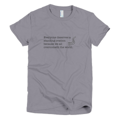 standing ovation youth short sleeve t-shirt