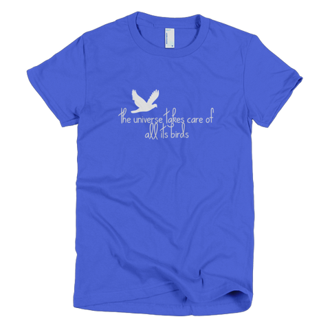 birds short sleeve women's t-shirt